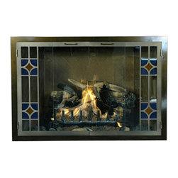Tiffany Premier Design Fireplace Glass Door - Custom Product -