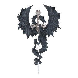 GSC - Dragon Collection with Sword Collectible Fantasy Decoration Figurine - This gorgeous Dragon Collection with Sword Collectible Fantasy Decoration Figurine has the finest details and highest quality you will find anywhere! Dragon Collection with Sword Collectible Fantasy Decoration Figurine is truly remarkable.