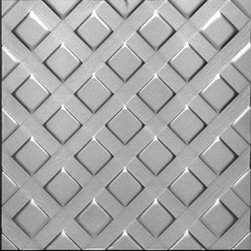 "Decorative Ceiling Tiles - Lattice - Aluminum Ceiling Tile - 24""x24"" - #2440 - Find copper, tin, aluminum and more styles of real metal ceiling tiles at affordable prices . We carry a huge selection and are always adding new style to our inventory."