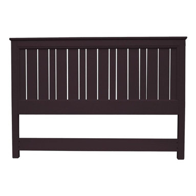 EuroLux Home - New King Bed Walnut Painted Hardwood Cottage - Product Details