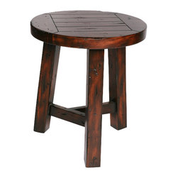 Hard Wood Small Stool - Modern Lodge Collection
