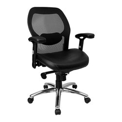Flash Furniture - Flash Furniture Mid-Back Super Mesh Office Chair in Black - Flash Furniture - Office Chairs - LFW42LGG - This value priced mesh office task chair will accommodate your essential needs for your home or office. Chair features a breathable mesh back with a comfortably padded seat. [LF-W42-L-GG]