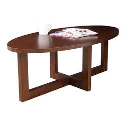 Regency - Regency Chloe Oval High Veneer Coffee Table in Mocha Walnut - Regency - Coffee Tables - HWTC4824MW