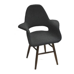 Fine Mod Imports - Eero Fabric Dining Chair -Gray - Features: