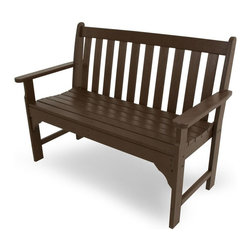 Polywood - Traditional Eco-friendly Bench - You don't have to live in wine country to enjoy the rich character of the Vineyard Collection. It will fill your outdoor living area with the same style and comfort it would if it were overlooking rows and rows of grapes at harvest time. you're sure to find one to suit your taste. Adding to its appeal is the warm, rich look of real wood without the regular maintenance that wood requires.
