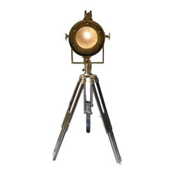 Pre Owned Golden Age Hollywood Movie Style Tripod Lamp