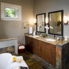 Mediterranean Bathroom by Harrell Remodeling