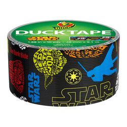 ShurTech - Star Wars 10-Yard Duck Tape® - Star Wars™ Duck Tape® brings the iconic space saga from a galaxy far, far away to your fingertips! Perfect for personalizing everyday accessories, and creating one-of-a-kind crafts and decorations for both Jedi and Sith, this tape will help make sure the Force™ sticks with you.   10 yards 1.88'' W Excellent for crafting, fun and imaginative projects High performance strength yet tears easily by hand Made in the USA