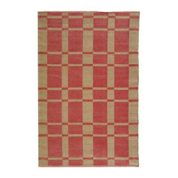Safavieh - Outdoor Plastic Rug (6 ft. x 4 ft.) - Size: 6 ft. x 4 ft. Contemporary style. Hand woven weave. Synthetic fiber. Knotted construction. Geometric pattern. Resistant to mold, mildew, sun, water and other elements. Made from plastic. Indian red color. Pile height: 0. 25 in. Made in India.