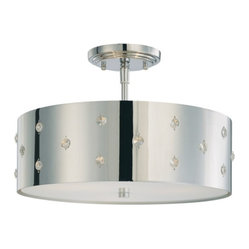 Bling Bling 3-Light Semiflush Mount