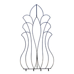 H Potter - Venus Garden Trellis - Brace yourself. This is not your typical garden trellis. Crafted of dark iron, the curvy shape is extra large and perfect as a backdrop for tall or climbing plants. Caress your clematis, massage your morning glories or suckle your honey in style.
