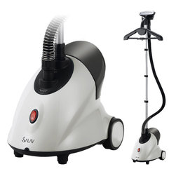 None - Salav Performance Series GS18-DJ/120 Garment Steamer - Keep your clothes crisp and ready to wear with the Salav Performance Series garment steamer. Featuring a folding adjustable hanger,this cleaner is designed to help you keep your clothing free of wrinkles easily and efficiently.