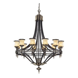 Elk Lighting - Elk Lighting 2434/12 12 Light Chandelier in Antique Bronze & Dark Umber & Marbli - 12 Light Chandelier in Antique Bronze & Dark Umber & Marblized Amber Glass belongs to Georgian Court Collection by Elk Lighting During The Mid-Eighteenth Century, The Georgian Style Became Immensely Popular, Not Only In England, But Also In Colonial America. The ��_��_��_��_��_Colonial��_��_��_��_��_ Home Was Influenced By The Georgian Style, Characterized By A Sense Of Proportion, Balance, And Carefully Thought Out Details. Furniture And Objects Of The Time Were Of A Larger ScalePatio & Garden/Patio Furniture/Patio & Pool Seating/Patio Rocking Chairs@Patio & Garden/Patio Furniture/Patio & Pool Seating/Porch SwingsBPatio & Garden/Patio Furniture/Patio & Pool Seating/Rattan Seating@Patio & Garden/Patio Furniture/Patio & Pool Seating/Teak SeatingBPatio & Garden/Patio Furniture/Patio & Pool Seating/Wicker Seating0Patio & Garden/Patio Furniture/Patio Dining Sets6Patio & Garden/Patio Fu Chandelier (1)