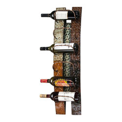 Southern Enterprises - Southern Enterprises Adriano Wall Mount Wine Storage in Earth Tones - Southern Enterprises - Wine Racks - HZ1018. Ideal for your kitchen, dining or even living room; this artistic wine rack is both beautiful and functional. Complementary earth tones will perfectly accent your home while six of your favorite wines are displayed in a beautiful manner. Whether you are a frequent entertainer or just a wine enthusiast, this wonderful piece is sure to be a welcome addition to your home.