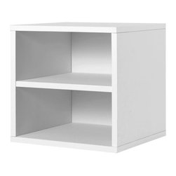 Foremost - Modular Shelf Cube White - Our shelf cube is elegant in its simplicity and provides flexible functionality. Divided horizontally by a shelf, the cube is perfect for storing magazines or books. Unlimited combination options so you can create exactly the system you need.