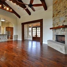 Traditional Living Room by Capstone Custom Homes