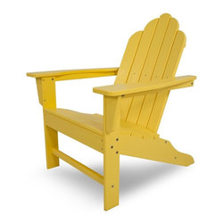 Polywood - 16 in. Eco-friendly Adirondack Chair in Lemon - You certainly don't need a home in the Hamptons to enjoy the classic, yet festive, Long Island Collection. You will strike a happy balance between laid-back comfort and fashion-forward style when you add the Polywood Long Island Adirondack to your outdoor living space. It is a chair that offers more than good looks, though.