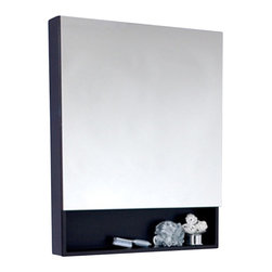 Fresca - Fresca Espresso Bathroom Medicine Cabinet w/Small Bottom Shelf - This medicine cabinet normally comes with the Infinito Double Sink bathroom vanity, but can be purchased separately here. It features a small bottom shelf and a mirrored medicine cabinet. It has an Espresso finish. For something slightly smaller, check out the FMC6124ES.