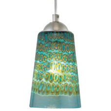 Pendant Lighting Carnevale Aqua Murrina Pendant by Oggetti Luce