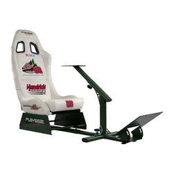 """Playseat - Playseat Evolution M """"NASCAR #88 Dale Earnhardt Jr. Diet Mountain Dew"""" Gaming Ch - Compatible with PCs and the Playstation 2, Playstation 3, Xbox, Xbox 360, and Wii gaming consoles. High quality vinyl upholstered seat provides the look and feel of real leather. Features a patented folding design with a fully adjustable steel framework. Features even more pre-drilled mounting point locations and a larger foot pedal support plate to accommodate newer 3rd party wheel/pedal sets such as the Fanatec CSR Clubsport and Thrustmaster T500RS. Featuring authentic JR Motorsports and NASCAR branding;. 90-day manufacturer's warranty. High quality vinyl upholstered seat has leather look and feel. White w/Green Frame. 23.2 in. L x 19.7 in. W x 15 in. H (55 lbs)Introducing the Playseat JR Motorsports Dale Earnhardt Jr edition Evolution. Dominate the sim-racing circuit and show off your fan support of Dale Earnhardt Jr in style with this authentic JR Motorsports Dale Earnhardt Jr Playseat Evolution. Modeled after dynamic race seats featured in real race cars, the Playseat JR Motorsports Dale Earnhardt Jr Evolution is the perfect way to bring the Dale Earnhardt Jr racing experience home. The seat includes extra strong, durable, lightweight forest green powder coated tubular steel frame with high-tension seat spring and wire system. Featuring authentic Diet Mt Dew Dale Earnhardt Jr and NASCAR branding, fully upholstered high profile side bolsters with ultra high-density foam and reinforced synthetic leather patches in the high wearing areas on the shoulders and sides.The Playseat Diet Mt Dew Dale Earnhardt Jr Limited Edition Evolution also comes equipped with Playseats patented fold down system for easy and fast storage. Supports most 3rd party wheel/pedal sets on the market [Fanatec, Logitech, Thrustmaster and MadCatz] that are sold for Playstation2, Playstation3, Xbox, Xbox 360, Wii, and all PC platforms. Recommend for ages 14+."""