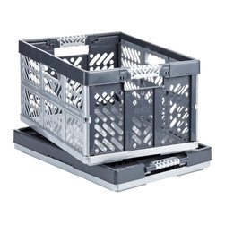Folding Crate - Though this folding crate from The Container Store is not marketed for bath toys, parents can easily use it to store them. It has plenty of holes to air out toys, and when the kids get older and no longer need it, parents can reuse the crate for their own general storage.