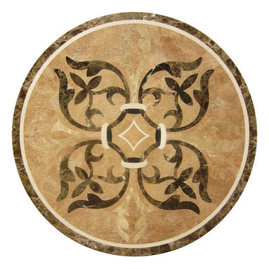 """Floor Medallions Online - 36"""" Waterjet Medallion - Greenwich - With the Greenwich, you can be assured your medallion will command the attention of the room!"""