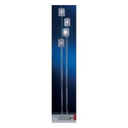 Eglo - Pyton 4 Light Floor Lamp - Pyton 4 Light Floor Lamp in Chrome Finish and Genuine Lead Crystals.