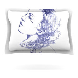 """Kess InHouse - Lydia Martin """"Queen of the Sea Purple"""" Pillow Sham (Woven, 30"""" x 20"""") - Pairing your already chic duvet cover with playful pillow shams is the perfect way to tie your bedroom together. There are endless possibilities to feed your artistic palette with these imaginative pillow shams. It will looks so elegant you won't want ruin the masterpiece you have created when you go to bed. Not only are these pillow shams nice to look at they are also made from a high quality cotton blend. They are so soft that they will elevate your sleep up to level that is beyond Cloud 9. We always print our goods with the highest quality printing process in order to maintain the integrity of the art that you are adeptly displaying. This means that you won't have to worry about your art fading or your sham loosing it's freshness."""