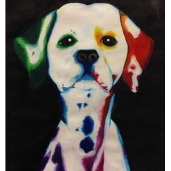 """Rainbow Dalmatian"" (Original) By Melissa Dunn - This Painting Was Inspired By My Love For Dogs. I Love Using Lots Of Color In My Work And This Painting Illustrates My Passion For Animals And Creativity."