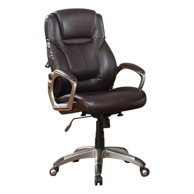 Serta by True Innovations - Serta EZ Tool Free Office Chair in Brown Bonded Leather - Serta by True Innovations - Office Chairs - E43500 - About This Product: