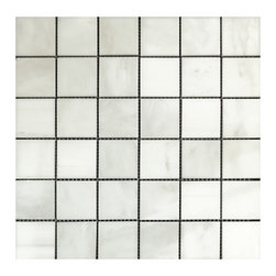 STONE TILE US - Stonetileus 10 pieces (10 Sq.ft) of Mosaic Everest White 2x2 Polished - STONE TILE US - Mosaic Tile - Everest - White - 2x2 - Polished Specifications: Coverage: 1 Sq.ft size: 2x2 - 1 Sq.ft/Sheet Piece per Sheet : 36 pc(s) Tile size: 2x2 Sheet mount:Meshed back Stone tiles have natural variations therefore color may vary between tiles. This tile contains mixture of white - light gray - and color movement expectation of The beauty of this natural stone Mosaic comes with the convenience of high quality and easy installation advantage. This tile has Polished surface, and this makes them ideal for walls, kitchen, bathroom, outdoor, Sheets are curved on all four sides, allowing them to fit together to produce a seamless surface area. Recommended use: Indoor - Outdoor - High traffic - Low traffic - Recommended areas: Everest - White - 2x2 - Polished tile ideal for walls, kitchen, bathroom,Free shipping.. Set of 10 pieces, Covers 10 sq.ft.