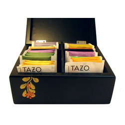 SparklingCollectibles - Tea Box with Tazo Tea, features Swarovski Crystals, Copper Flowers & Gold Vines - Exquisite Tazo Tea Box is delivered with 40 TAZO Tea Bags in the following 10 flavors: China Green Tips Green Tea, Wild Sweet Orange Herbal Tea, Awake Black Tea, Refresh Herbal Mint, Lotus Decaf Green Tea, Ginger Green Tea, Early Grey, Herbal Passion Tea, Calm Chamomile Tea and Organic Chai Tea.