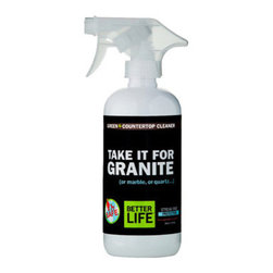 Better Life - Better Life Stone Countertop Cleaner - 16 fl oz - Does your granite counter top need a good scrub? Make sure you use this stone counter cleaner to preserve the quality of your granite, marble and quartz surfaces. Manufactured specifically to preserve the environment while being an effective cleanser, it contains natural ingredients so you can eradicate your house of toxins and harmful chemicals.