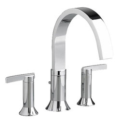 American Standard - American Standard 7430.900.002 BerwickDeck-Mount Tub Filler, Chrome - This American Standard 7430.900.002 American Standards 7430.900 BerwickDeck-Mount Tub Filler is part of the Berwickcollection, and comes in a beautiful Chrome finish. This deck-mounted tub filler features ceramic disc valve cartridges, metal lever handles, a durable brass construction, and a lifetime finish that won't tarnish or scratch.
