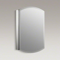 "KOHLER - KOHLER Archer(R) 20"" W x 31"" H aluminum single-door medicine cabinet - With its sleek ..."