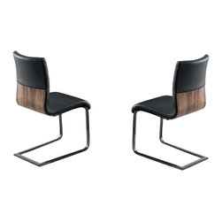 Armen Living - Zenith Side Chair, Set Of 2 - Dine in style with the Zenith corner nook dining set. Made with Vinyl.