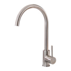 Elite - Elite K01SN SAtin Nickel Single-handle Kitchen Faucet - The Elite kitchen faucet features a single-handle design that makes it an ideal choice for any style of home decor. This faucet also highlights a brass and stainless steel construction and is water pressure tested for industry standards.