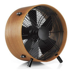 "Stadler Form - Otto Fan by Stadler Form - The wooden fan with contemporary style. The Stadler Form Otto Fan is an industrial fan made of high grade steel paired with the rich tone and texture of Bamboo or African Saeple wood. Otto creates a breeze or a gale over three possible fan speed settings, while height-adjustable feet help control the angle of air circulation. 100% engineered and designed in Switzerland. Stadler Form has been transforming the ""ugly ducklings"" of functional household products into fashionable swans of style since 1998. Balancing purpose with distinctive form, each Stadler Form fan and heater lives up to owner Martin Stadler's philosophy to create designer products that make life colorful and more enjoyable."
