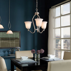 Transitional Dining Room by Littman Bros Lighting