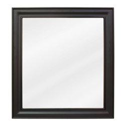 Hardware Resources - Jensen Bath Elements Mirror 22 x 1 x 24 - 22 x 24 Black mirror with beveled glass
