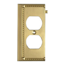 "Elk Lighting - EL-2506BR Clickplates Brass End Switch Plate Lighting Accessory - Decorative outlet covers customizable to your receptacle configuration. ""we've got you covered"" with the most popular models and finishes. Quality cast metal construction will add a finishing touch to your decor. Clickplates will look great in every room in your home."