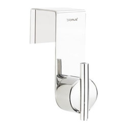 Blomus - DUO Overdoor Hook by Blomus - Simple, modern style meets simple installation. The Blomus DUO Overdoor Hook can be hung over any door for instant hanging storage. It is made out of solid stainless steel, in either a soft matte or gleaming polished finish to coordinate with bathroom fixtures or closet hardware. Designed by Stotz-Design. Blomus, headquartered in Germany, specializes in the design and manufacture of beautifully engineered home and office accessories in modern stainless steel styles.