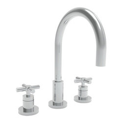"""Newport Brass - Newport Brass 990 East Linear Double Handle Widespread Lavatory Faucet - East Linear Double Handle Low Lead Widespread Lavatory Faucet with Metal Cross HandlesThe East Linear Collection from Newport Brass will be a stylish and modern looking addition to any household. With its smooth, simple lines, the East Linear Collection is a great way to enhance the beauty of your home. Newport Brass lavatory faucets are available in several different styles with 25 unique finish options. Every Newport Brass bathroom faucet is CA/VT low lead compliant and WaterSense certified. Solid brass construction and ceramic disc cartridges ensure that your Newport Brass bath faucet will last the test of time. You will see why Newport Brass boasts Flawless Beauty from Faucet to FinishFeatures:Double handle lavatory faucetADA Compliant Cross HandlesBrass Valve Bodies. Valve Included.Quarter-turn washerless ceramic disc valve cartridgesPop-up drain with tail pieceMetal cross handlesCA/VT Low lead compliantWaterSense CertifiedSolid brassReadyship Available Finishes - Finishes guaranteed to be in stock by Newport BrassSatin NickelPolished ChromeFinish Features:Available in 25 beautiful finishesNew Industry Leading lacquer Finish ProcessIAPMO Certified and testedLong Life Finishes - 10 Year WarrantyDurable, color protected, scratch resistantGreen, low VOC, energy efficient finishing processSpecifications:Spout reach: 7-9/16""""Spout Height: 6-1/8""""Overall Height: 11-9/16""""Handles Included: Yes8"""" CentersLow Lead Compliant : YesWaterSense Certified : YesMaterial : Solid Brass1/2"""" valves"""