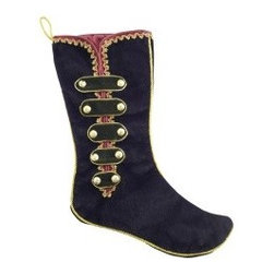 Velvet Regal Stocking - This totally regal stocking reminds me of The Nutcracker.