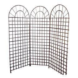 "Master Garden Products - Willow Screen, 3 Panel Divider, 72""W x 72""H - Our self standing willow screen and room dividers can be used indoors or outdoors, in residential or any commercial facilities, to divide an area for privacy or to create an extra room. They can be folded and stored away easily when not in use. Our self standing willow screens are great for outdoors and indoors."