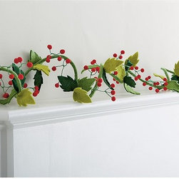 Felt Christmas Garland - I like this unique twist on a holiday garland. It's a sweet and simple way to lighten the mood.
