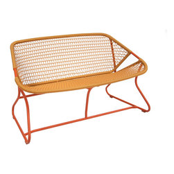 Fermob Sixties Bench - Fermob Sixties Bench in Paprika + Saffron