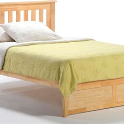 Night & Day Furniture - Rosemary Twin Platform Bed in Natural (Twin) - Choose Bed Size: TwinBed includes headboard, footboard, rail and slat. 100% Malaysian Rubberwood construction. Warranty: 10 years. Natural finishBed dimensions:. Twin Headboard: 41.3 in. W x 44.7 in. L (22 lbs.). Twin Footboard: 16.3 in. W x 42.4 in. L (11 lbs.). Full Headboard: 41.3 in. W x 59.7 in. L (30.9 lbs.). Full Footboard: 16.3 in. W x 57.3 in. L (15.4 lbs.). Queen Headboard: 41.3 in. W x 65.7 in. L (35.3 lbs.). Queen Footboard: 16.3 in. W x 63.3 in. L (22 lbs.). Eastern King Headboard: 41.3 in. W x 81.7 in. L (39.7 lbs.). Eastern King Footboard: 16.3 in. W x 79.4 in. L (26.5 lbs.)Have you ever noticed that rosemary will grow nearly anywhere, in nearly any environment? And it adds great taste to whatever it's combined with. That's one attractive, tough and versatile ingredient. Similarities to our Rosemary bed are absolutely striking.