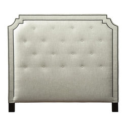 Headboard The Tufted Headboard Has An Arched Architectural Shape