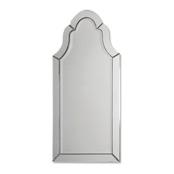 Uttermost - Hovan Frameless Arched Mirror - Style and elegance, this mirror will give your bathroom a more refined look. The frameless beveled mirror features a beautiful arched design and smooth clean lines. It may look simple but it's very sleek.